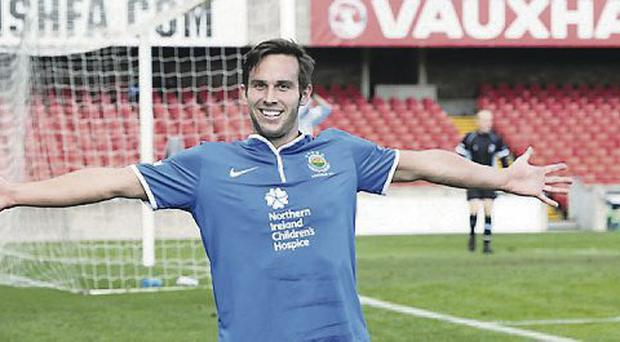 Andy Waterworth could face old club Glentoran tonight