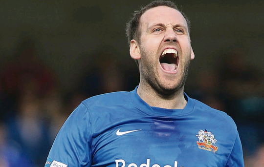 Guy high: Guy Bates is worth his weight in goals to Glenavon