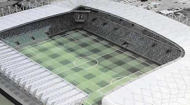 An artist's impression of how the refurbished Windsor Park will look