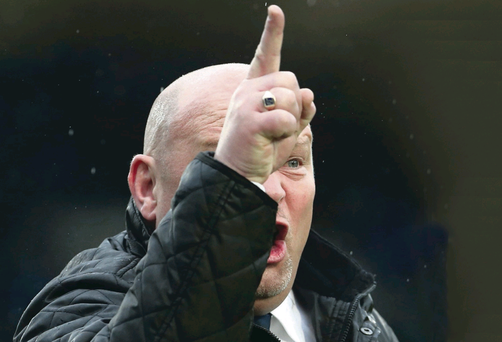 David Jeffrey shows where he wants Linfield to finish