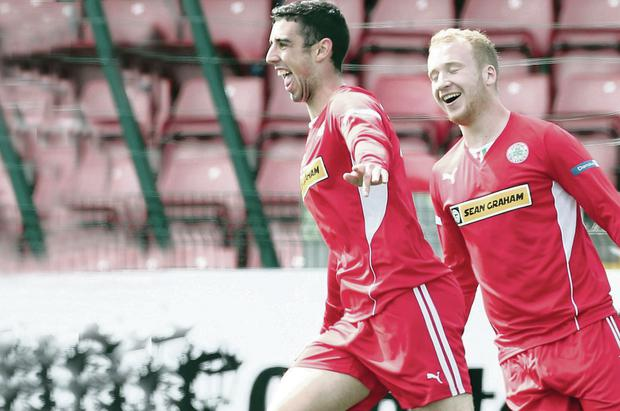 Reds stars: Cliftonville's Joe Gormley and Liam Boyce will hardly go missing in action again
