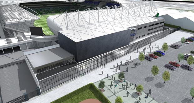 Future plans: An artist's impression of the new leisure facilities behind the West stand at the new-look Windsor Park
