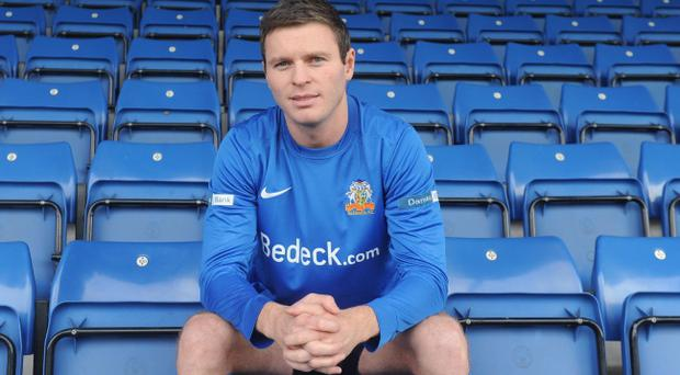 Kevin Braniff scored his first goal for Glenavon