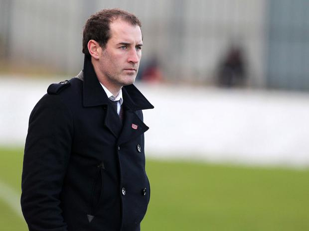 Fine tuning: Carrick Rangers' manager Gary Haveron has made big changes for cup tie