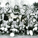 Lining up: George Best joins the rest of the Tobermore United squad for a team photo before the Irish Cup tie against Ballymena United in 1984