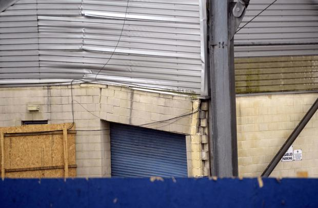 Going down: Windsor Park's Kop Stand will have to be demolished