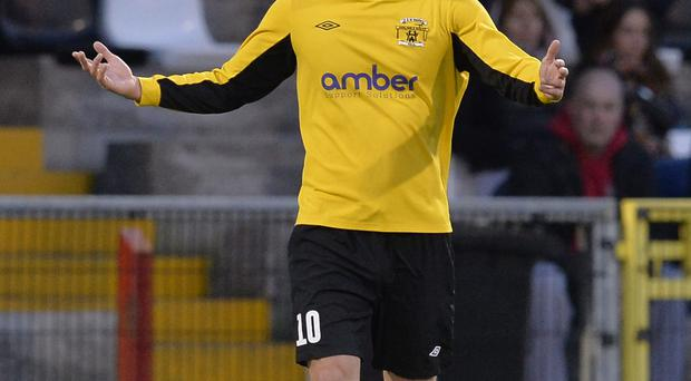 Harland & Wolff Welders' 48-goal striker Michael McLellan is one of three players nominated for the NI Football Writers' Championship Player of the Year