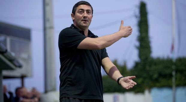 Massive challenge: Derry City boss Peter Hutton fancies his men to spring a surprise against Dundalk tonight