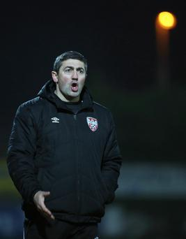 High standards: Peter Hutton wants more from his Derry team