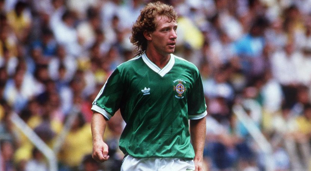 Major experience: Jimmy Nicholl at the 1986 World Cup in Mexico, four years after appearing in the previous finals in Spain