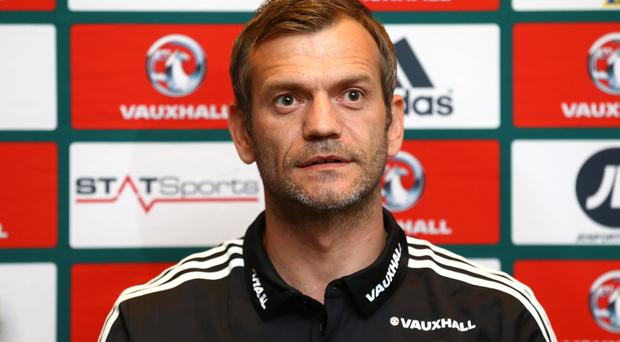 Press Eye - Belfast - Northern Ireland - 09th October 2015 - Photo by William Cherry Northern Ireland goalkeeper Roy Carroll during Fridays press conference at the team hotel in Helsinki ahead of Sundays UEFA Euro 2016 Qualifier against Finland.
