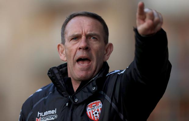 Long trip: Derry boss Kenny Shiels is wary of the threat from hosts Cork