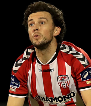 Looking up: Barry McNamee is sure Derry can win their next three games