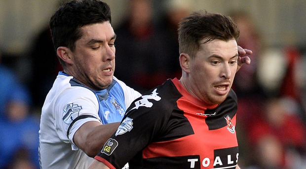 Double vision: Billy Joe Burns has his sights set on the league title and Irish Cup this season