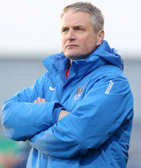 Promising: Colin Nixon feels his Ards side are improving