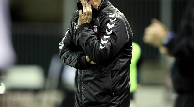 Injury woe: Kenny Shiels is without several top stars