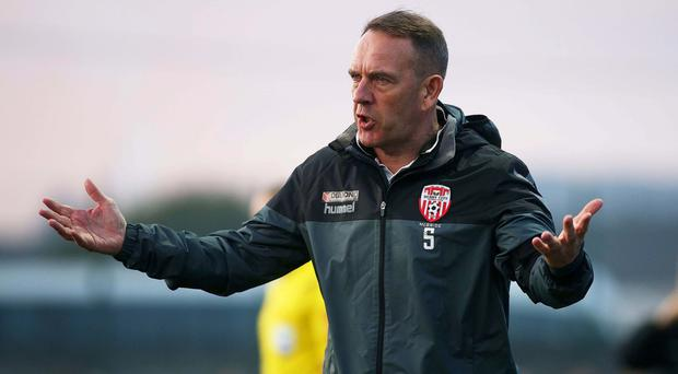 Night to forget: Derry City manager Kenny Shiels could not guide his team to victory over a battling Finn Harps side