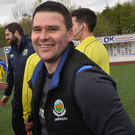All smiles: David Healy is happy with the Euro draw