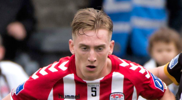 Impressive performance: Ronan Curtis opened the scoring for Derry City last night at Maginn Park