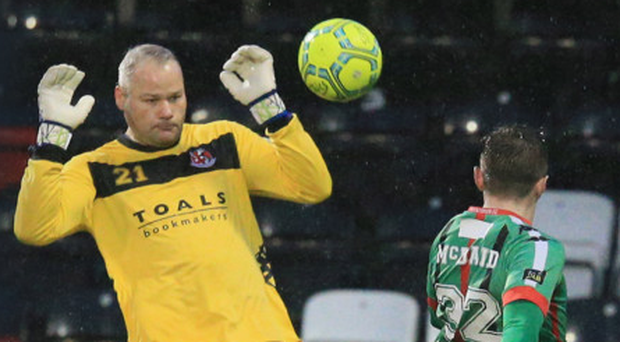 Safe hands: Crues keeper Brian Jensen is backing his side to finish season in style