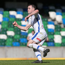 Quick-fire double: Coleraine's Darren McCauley equalises