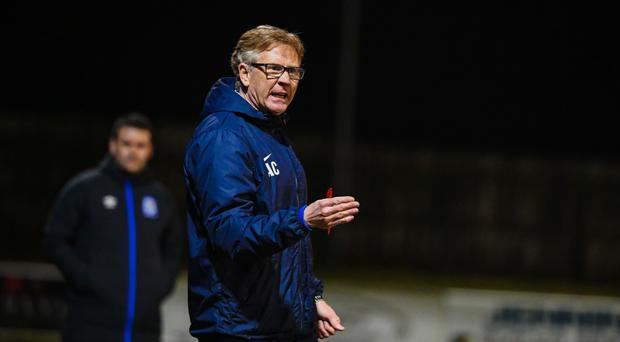 Staying calm: Ballinamallard United manager Harry McConkey