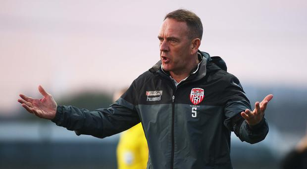 Honest bunch: Kenny Shiels has hailed team's commitment