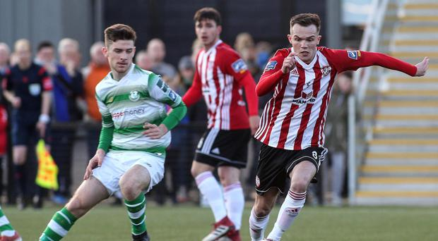 Rory Hale won the game for Derry City.