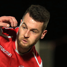 Competitive: Tommy Stewart is a key man in Larne's set-up