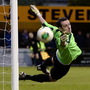Glove affair: Niall Morgan in action for Dungannon Swifts in 2013