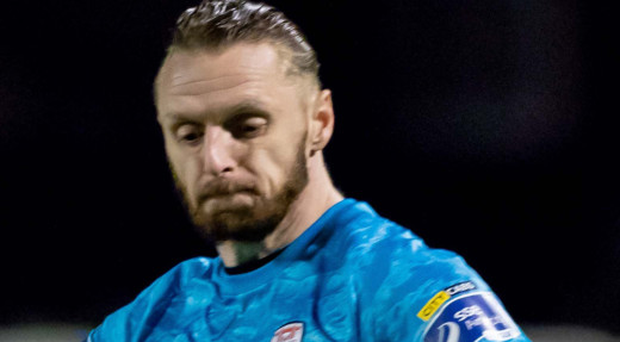 Hitting back: Peter Cherrie wants to get over the loss to Bohemians
