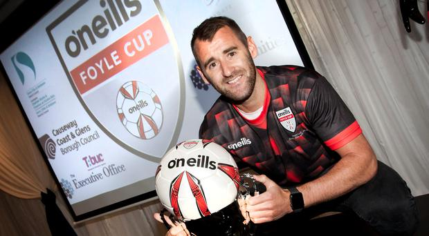 Memories: Niall McGinn at the O'Neills Foyle Cup launch