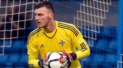 Safe hands: Conor Mitchell is a transfer target for Larne