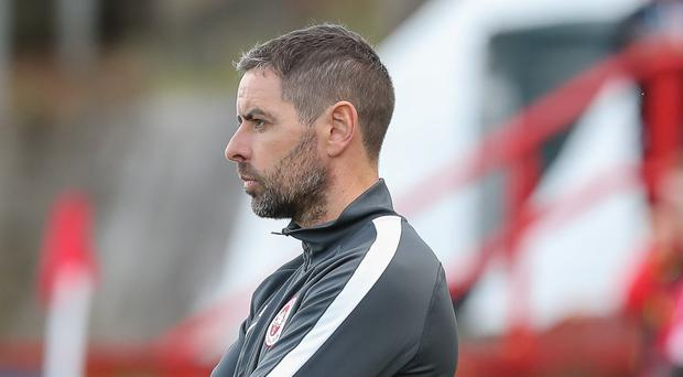 Bedding in: Tiernan Lynch is happy with Larne's start