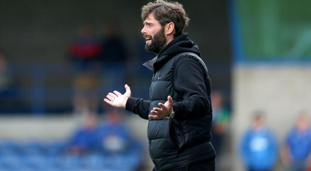 Rallying call: Gary Hamilton wants his Glenavon troops to step up a gear