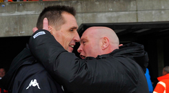 Mutual respect: Stephen Baxter and David Jeffrey