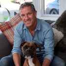 Unwinding: Mark Glendinning at home with Rocco