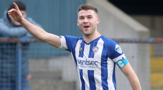 Coleraine midfielder Stephen Lowry closed the gap to his brother Philip with his brace on Saturday afternoon.