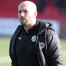 Close call: Cliftonville boss Paddy McLaughlin