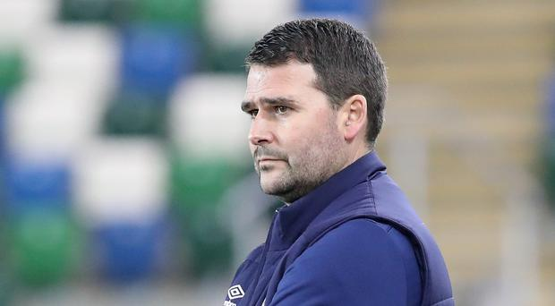 Looking up: David Healy's side are five points off top spot