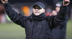 Form rewarded: Glentoran boss Mick McDermott has been named NIFWA's Manager of the Month for November