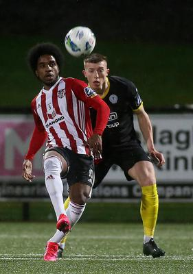 Flying start: Walter Figueira has quickly become a fans' favourite since joining Derry City