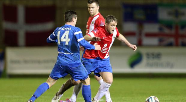 Grant McCann makes his Linfield debut at Ferney Park
