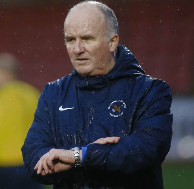 Time to go: Whitey Anderson has decided to end his 10-year spell as manager of Ballinamallard United