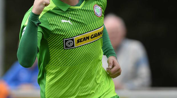 Opener: Striker Darren Murray set Cliftonville on their way to victory