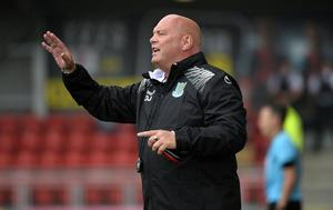 Top form: Ballymena United boss David Jeffrey will urge his table toppers to rise to the challenge against Crusaders today