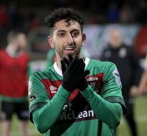 Navid Nasseri has moved across Belfast to Linfield