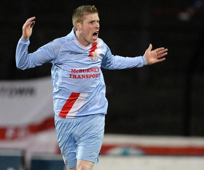 Some Boy: Darren Boyce scored Ballymena United's late winner against Warrenpoint Town