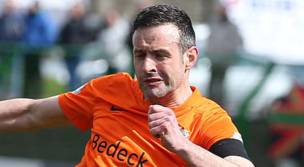 Equaliser: Ciaran Martyn powers home Glenavon's third goal