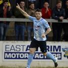Hitting the target: Cathair Friel nets for Ballymena United